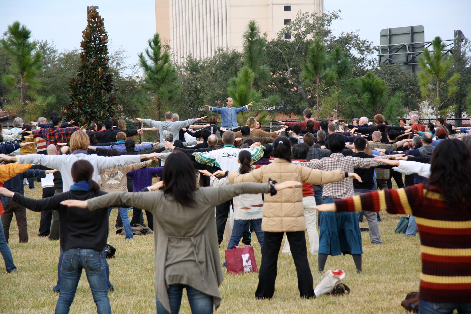 cours de Qi Gong en plein air